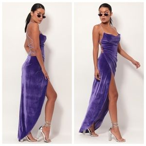 Lucy in the Sky Dresses - NEW Lucy in the Sky Purple Velvet Luxe Gown Dress